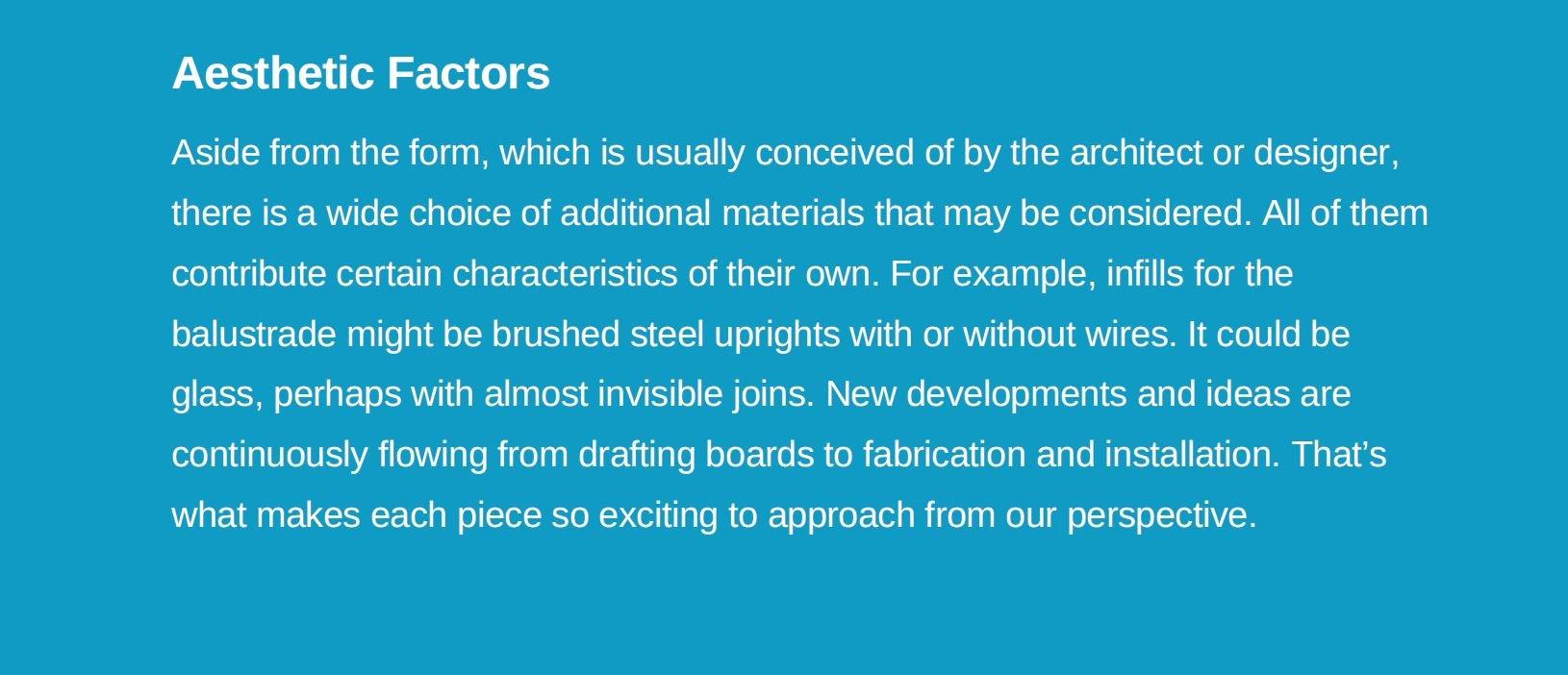 aesthetic factors