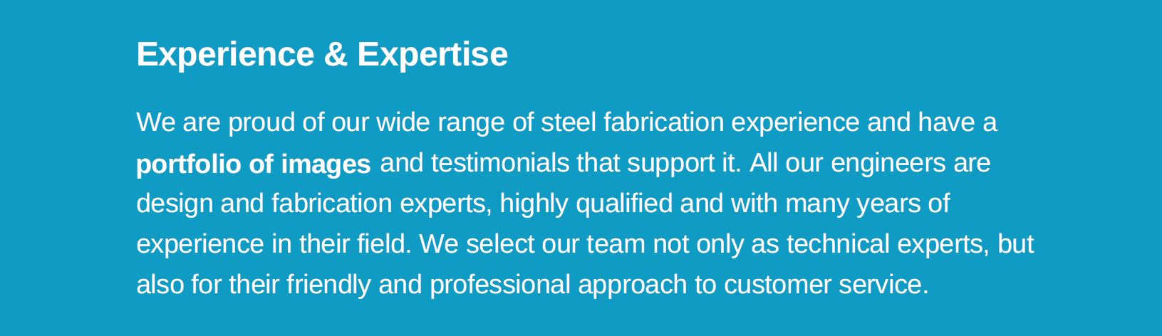 experienced with steel staircases