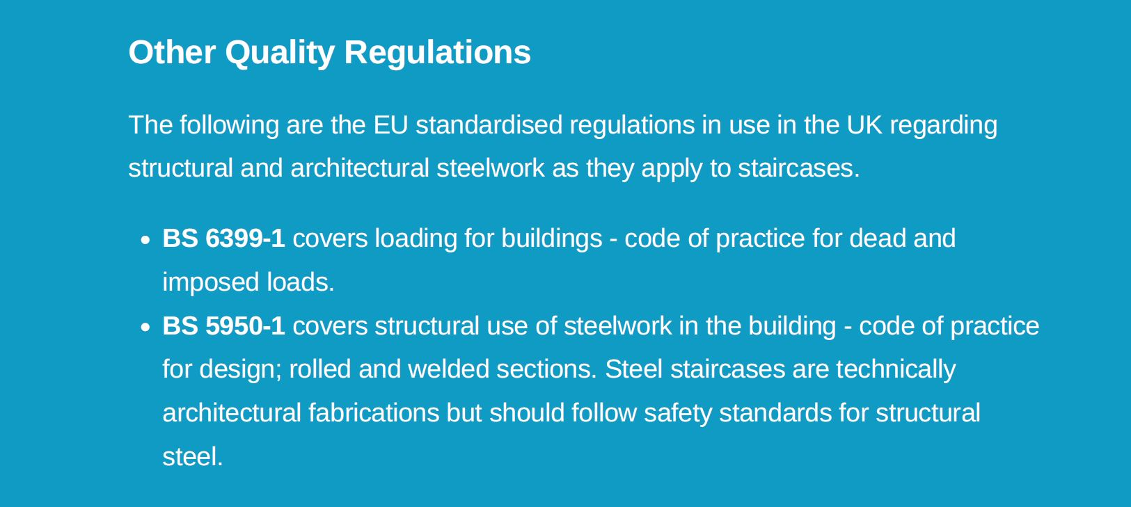 other quality regulations