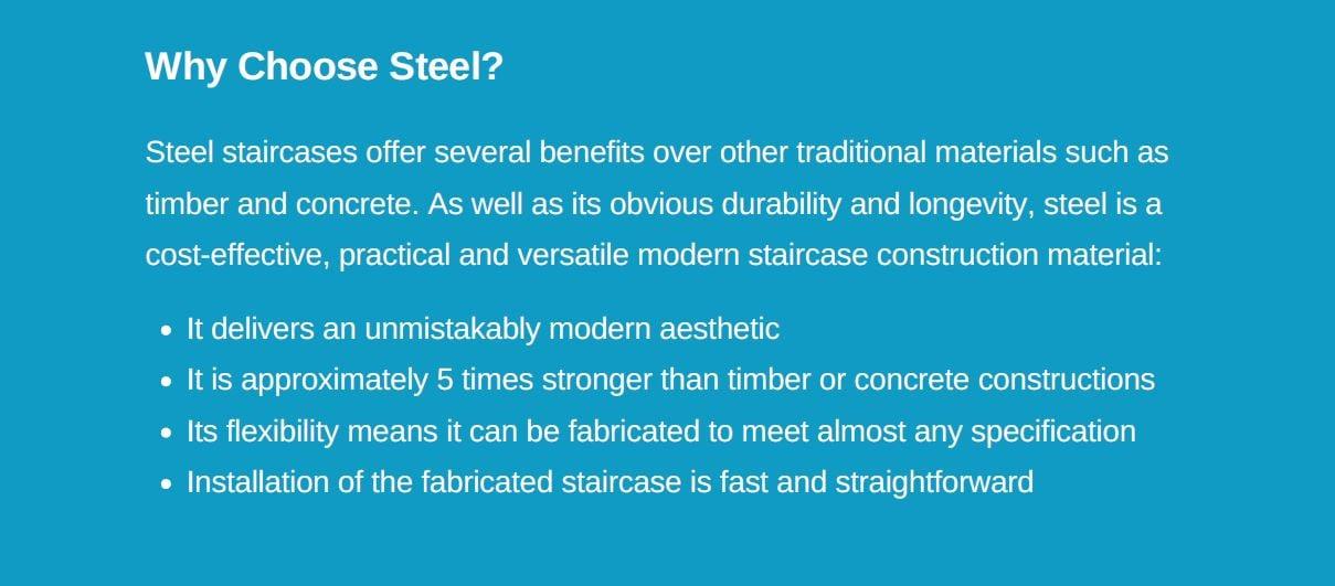 why choose steel