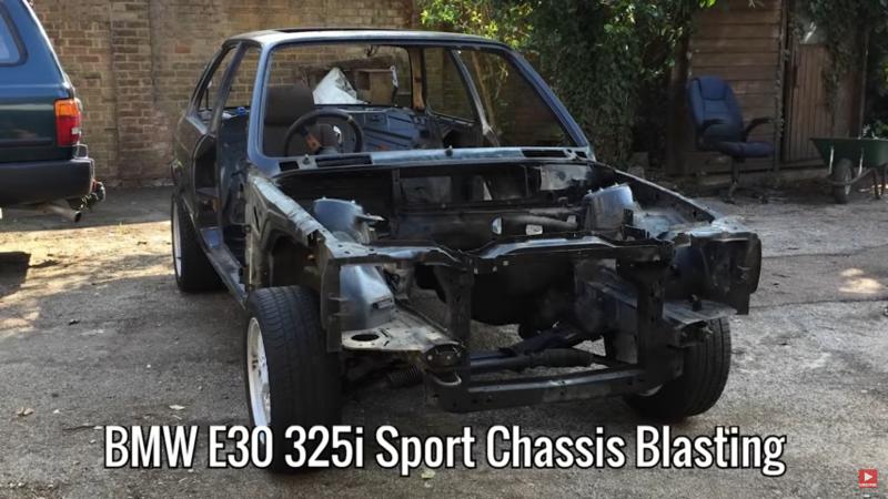 Shot Blasting A BMW E30 325i
